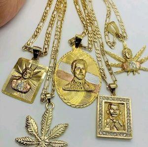 Jesus malverde gold plated Brazilian